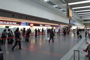 羽田空港国内線第1ターミナルチェックインカウンター