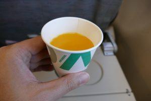 エアソウルで無料提供されるジュース