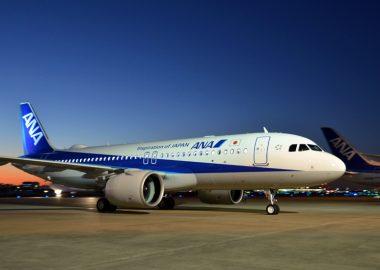 12月17日の17時にエアバス社工場があるドイツのハンブルクからロシアのノボシビルスク経由で羽田空港に到着したエアバスA320neo