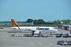 台湾のチャイナエアラインが出資しているタイガーエア台湾。羽田・成田の両空港に就航