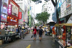ソウルの繁華街である明洞(ミョンドン)