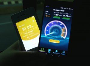 バンコク市内のjetfiの通信速度