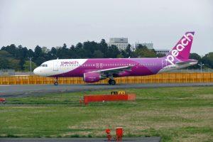 ピーチは現在、成田からの路線は関西と福岡の2路線になっている。発着は第1ターミナル南ウイングとなっている。