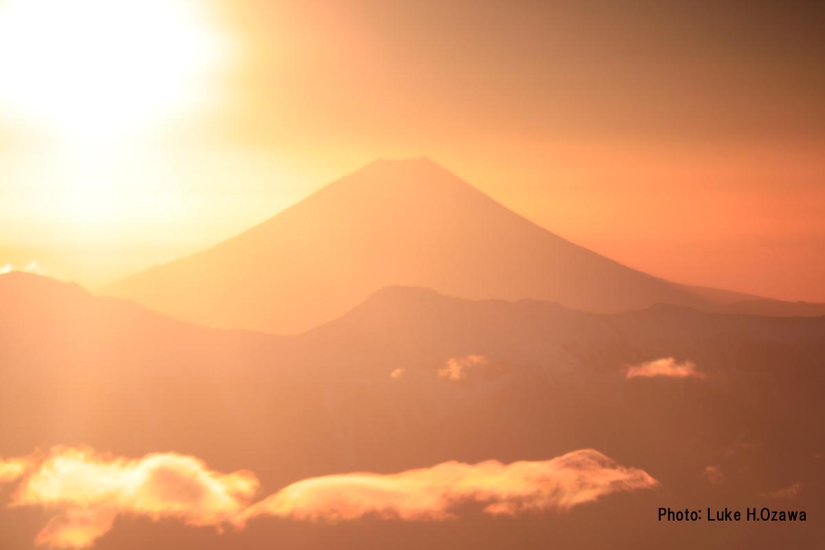 ご来光後の富士山
