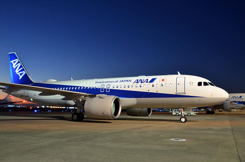 ANA機(エアバスA320neo)