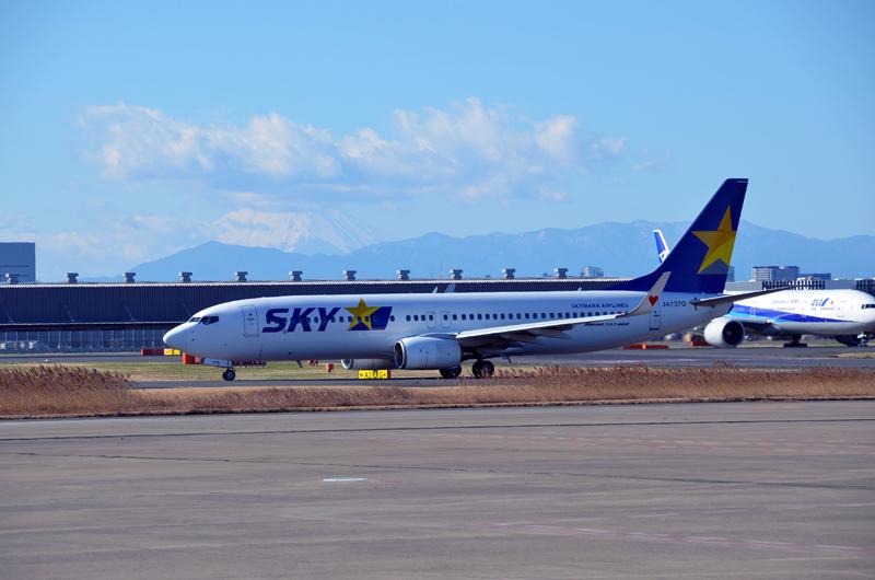 スカイマーク機(ボーイング737-800型機)