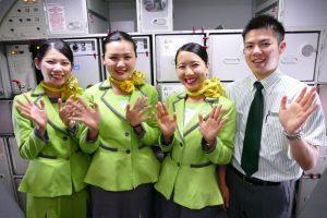 成田発天津行きIJ1031便の初便のクルー