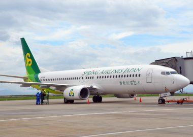 春秋航空日本は、新千歳・関西・広島・佐賀の4路線の国内線を運航。