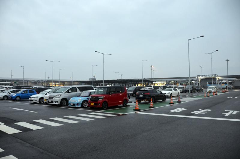 第2ターミナル前の駐車場