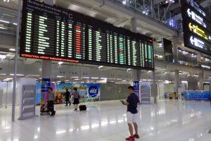 バンコク・スワンナプーム空港到着ロビー