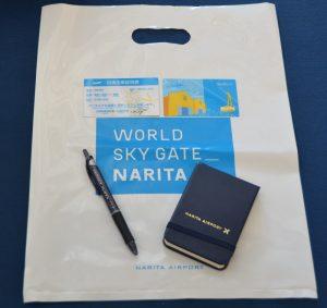 JW953便成田発函館行きの初便の乗客に配られた記念品