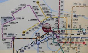 紫色が新規開通する桃園空港MRT