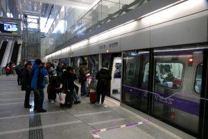 台北駅から桃園空港MRTの「直達車(Express)」に乗車