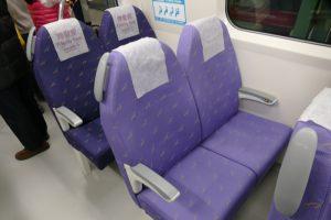MRT桃園線の直通車(エクスプレス)の座席