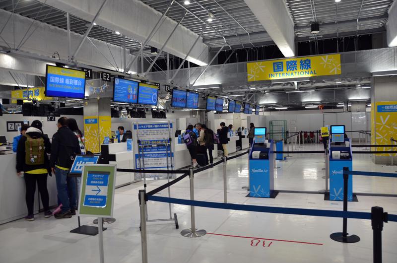 成田空港第3ターミナルにあるバニラエアチェックインカウンター