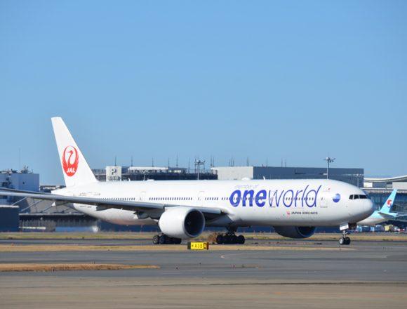 JAL国際線ボーイング777-300ER型機
