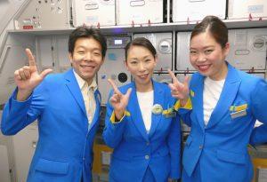 バニラエア奄美大島発関西行きJW874便の初便のフライトアテンダント