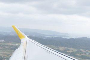 午後0時47分 JW874便関西空港行きの初便が奄美空港離陸