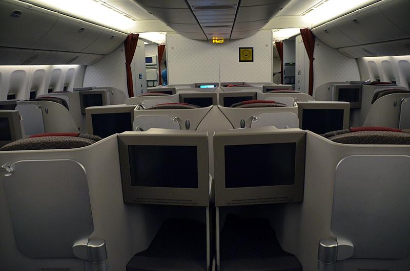 ガルーダ・インドネシア航空のビジネスクラス(ボーイング777-300ER型機)