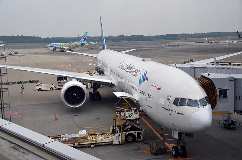 東京線に投入されているガルーダ・インドネシア航空のボーイング777-300ER型機