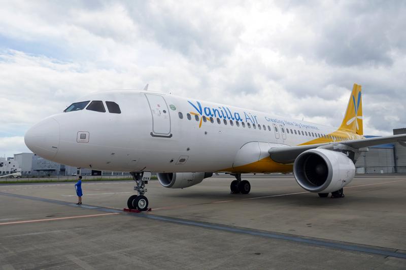 機体に新たなブランディングのスローガン「Creating New Sky Experience」がまずは1号機に描かれた