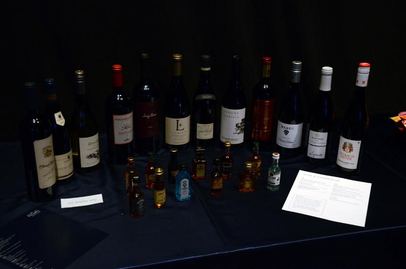 ワインなどのアルコール類も充実