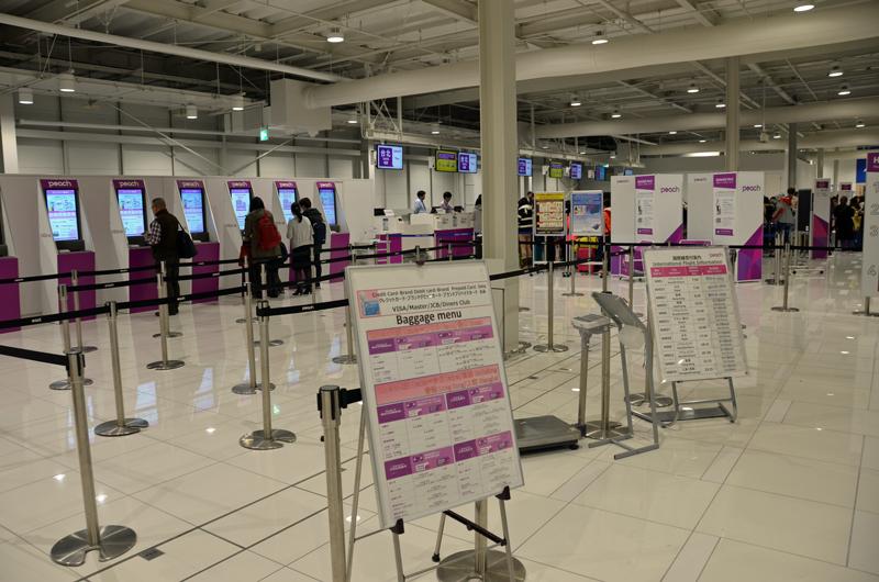 関西国際空港第2ターミナル国際線チェックインカウンター