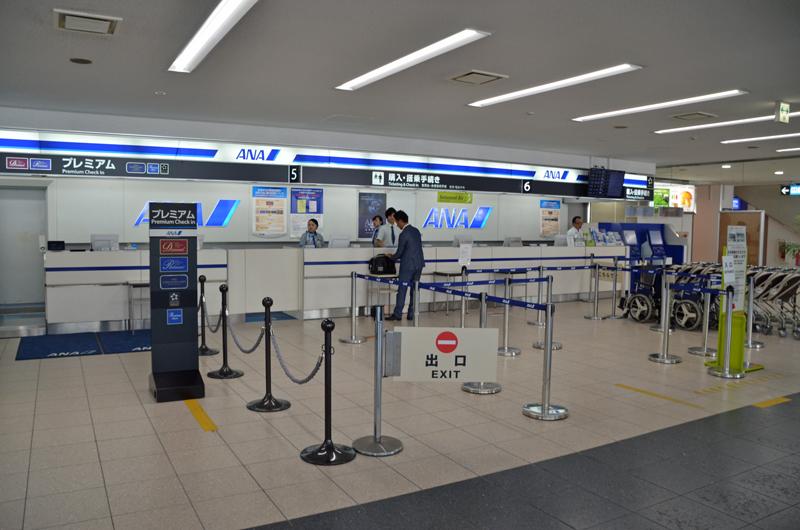 鹿児島空港ANAチェックインカウンター