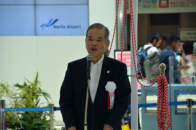 成田国際空港会社の夏目誠社長
