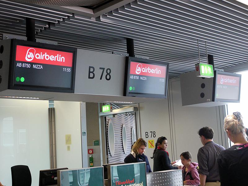 エアベルリンの搭乗ゲート(デュッセルドルフ空港)