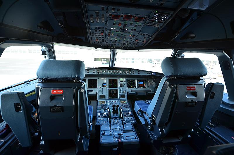 A321neoのコックピット