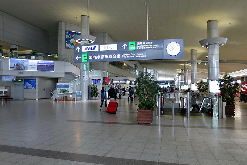 広島空港2階の出発ロビー