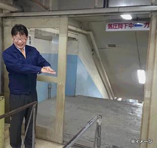 釧路コールマインで人車など入坑場面を見学する