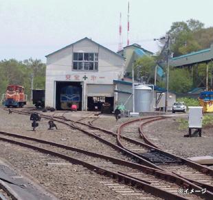 炭鉱鉄道と石炭列車を間近で見学