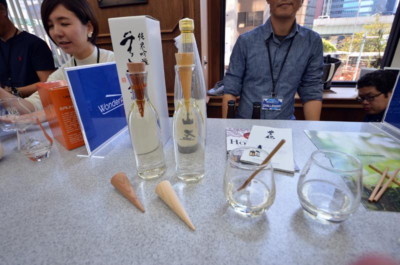 木の香りを楽しみながら日本酒が飲める