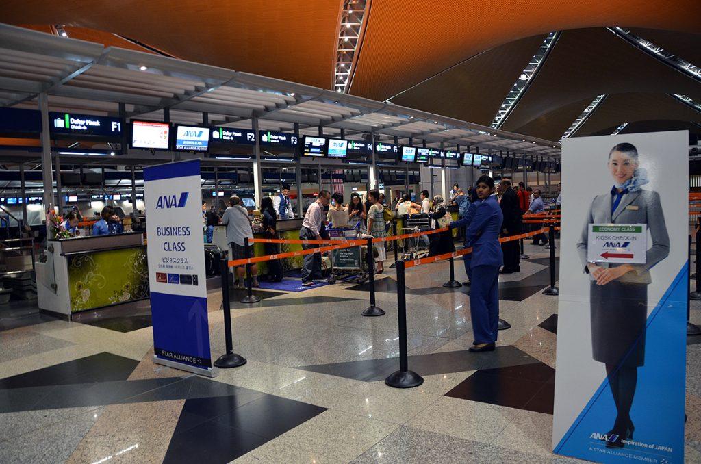 クアラルンプール国際空港のANAチェックインカウンター