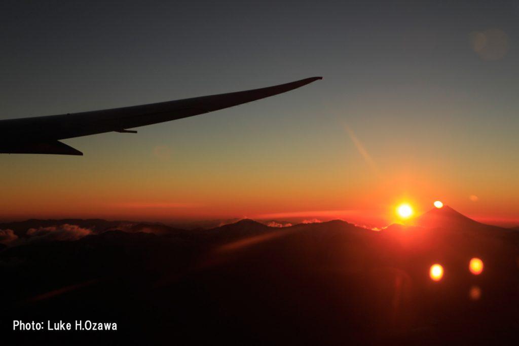 ご来光直後の富士山(その2)
