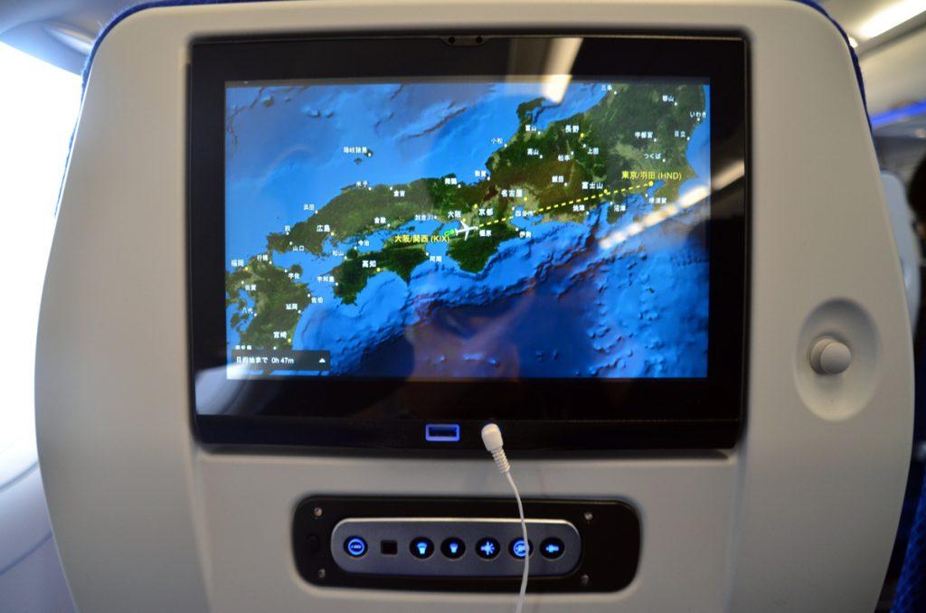 国内線A321neoに搭載のシートテレビ