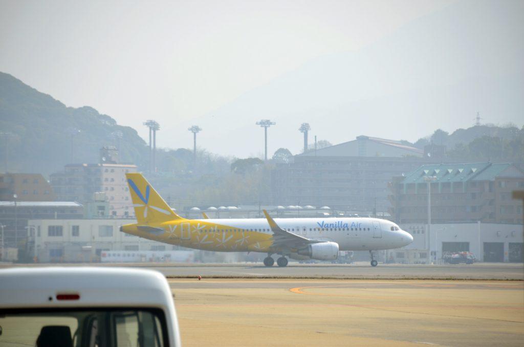 台北へ向けて離陸