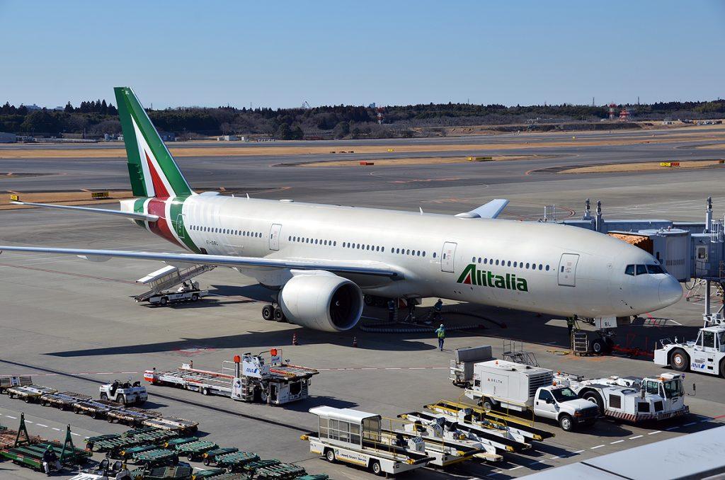アリタリア-イタリア航空機(成田空港にて)