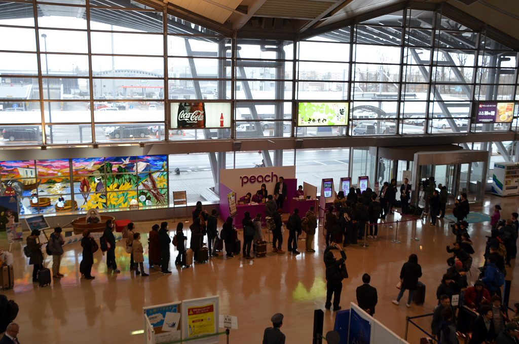 新潟空港のピーチ、チェックインカウンター