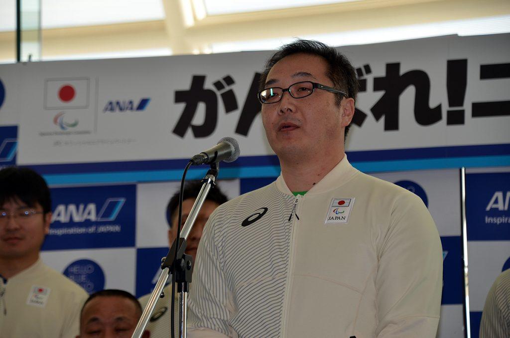 日本代表選手団の主将を務める須藤悟選手