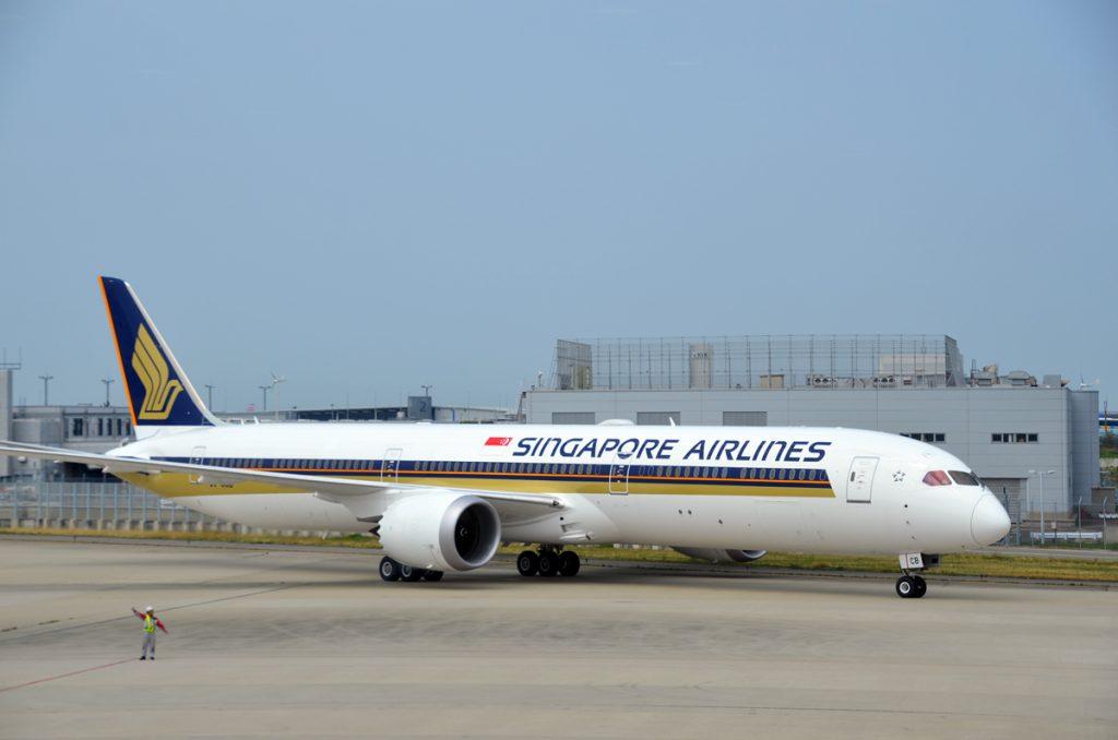シンガポール航空のボーイング787-10型機