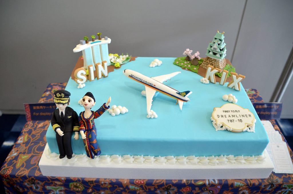 就航記念のオリジナルケーキ