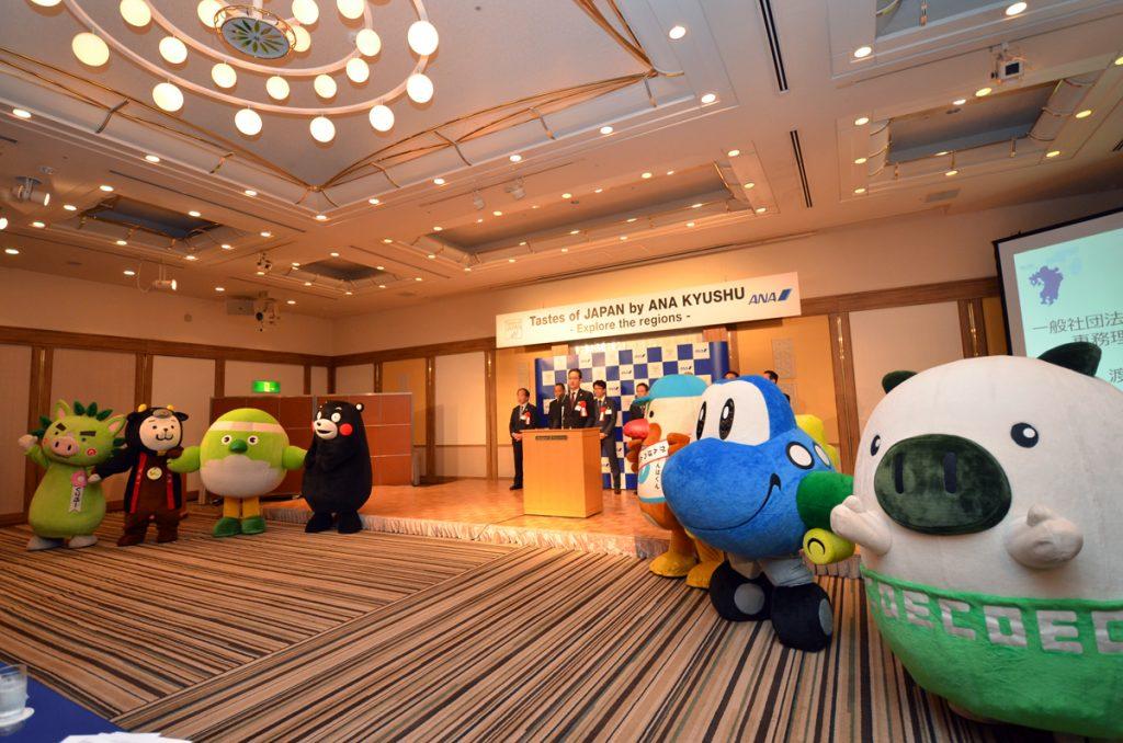 九州7県のゆるキャラも会場を盛り上げた