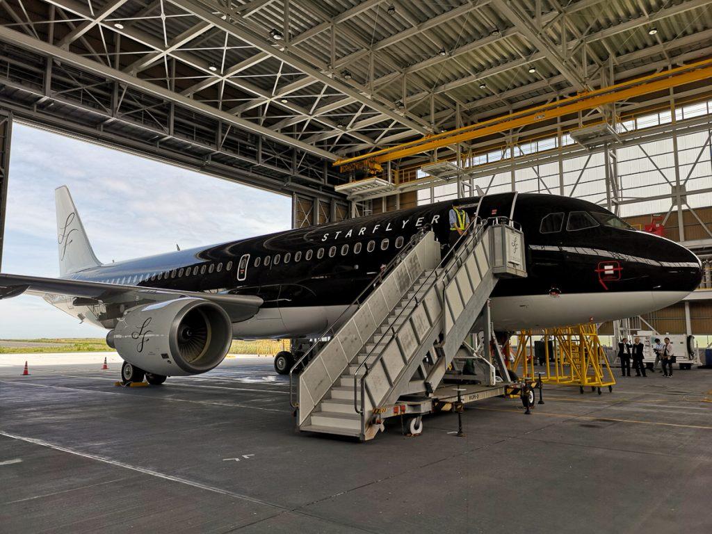 国際線就航に対応した新造機(JA25MC)を北九州空港でお披露目