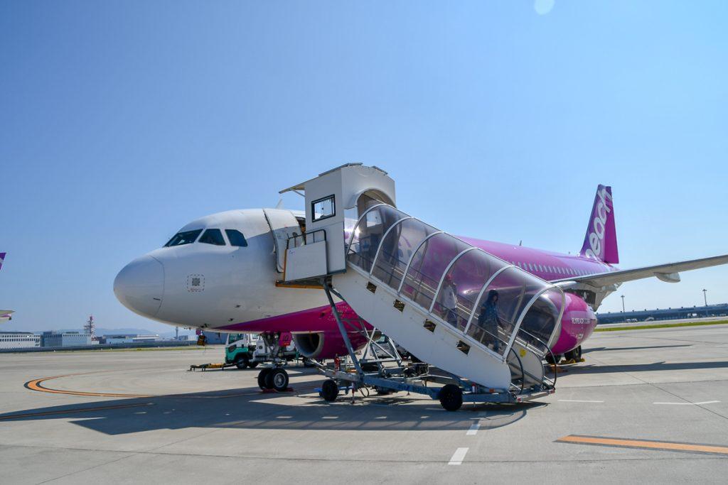 関西空港にほぼ定刻に到着