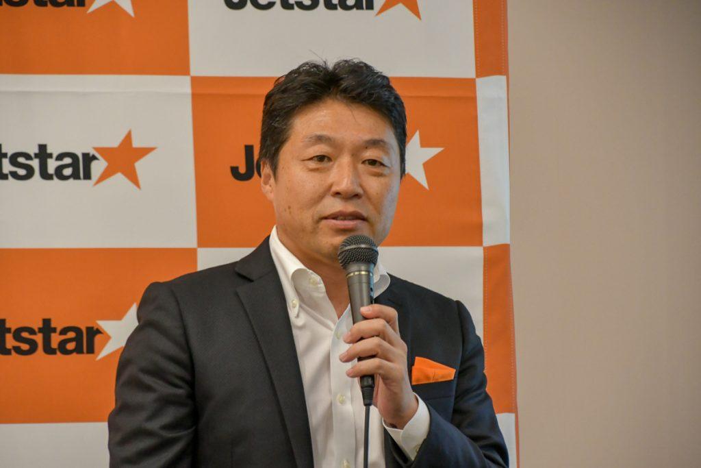 ジェットスター・ジャパンの片岡優代表取締役社長