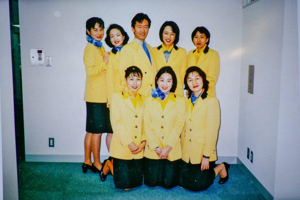 20年前の就航時の制服は黄色だった