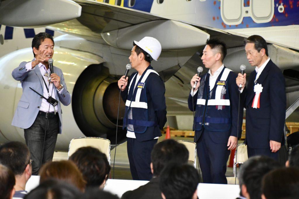 航空写真家のチャーリィ古庄さんと遠藤章造さん(ココリコ)のスペシャルトークショー